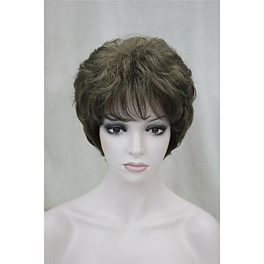 Umělé vlasy paruky Kudrny Bez krytky Přírodní paruka Krátký
