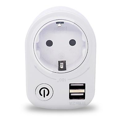 USB-laturi 2 Portit Työpöydän latausasema USB-portilla EU Latausadapteri