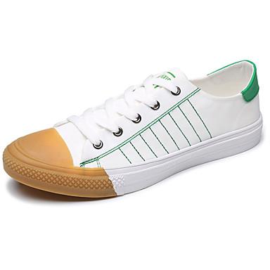 Homens sapatos Borracha Primavera/Outono Conforto Tênis Cadarço para Ao ar livre Vermelho/Branco Branco e Verde