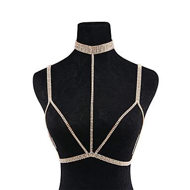 هندسي سلسلة الجسم / سلسلة البطن موضة للمرأة ذهبي / فضي مجوهرات الجسم  من أجل مناسبة خاصة / هدية / فضفاض