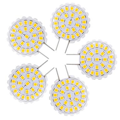 YWXLIGHT® 5pçs 1.5W 100-200lm Luminárias de LED  Duplo-Pin T 27 Contas LED SMD 2835 Branco Quente Branco Frio 110-130V