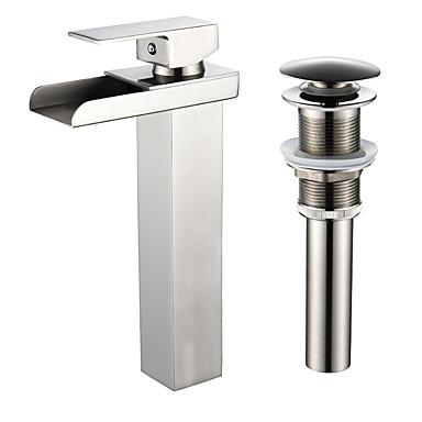 Faucet Set - Cascata Níquel Escovado Conjunto Central Uma Abertura