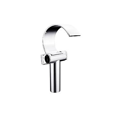 torneira da pia do banheiro - cascata cromo centerset duas alças de um buraco torneiras de banho