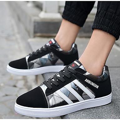 Miesten kengät Mokkanahka Kevät Comfort Lenkkitossut varten Päivittäin Musta Ruskea Sininen