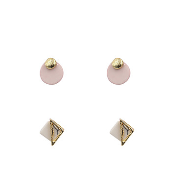 Women's Stud Earrings - Simple Style, Fashion, Euramerican Depression Pink For Wedding Anniversary Birthday / 4pcs