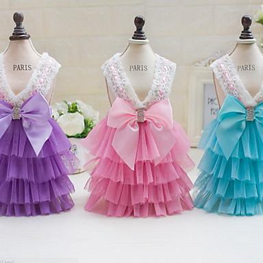 Other Kleider Hundekleidung Niedlich Lässig/Alltäglich Hochzeit Prinzessin Purpur Blau Rosa