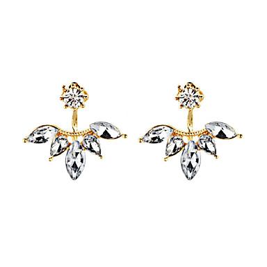 Mulheres Diamante sintético Brincos Curtos - Flor Personalizada, Geométrico, Original Dourado / Prata / Ouro Rose Para Presentes de Natal / Casamento / Festa