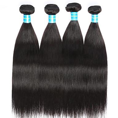 Indisches Haar Glatt Menschliches Haar Webarten 4 Stück Menschenhaar spinnt