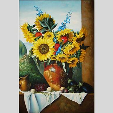 Pintados à mão Vida Imóvel Panorâmico vertical, Abstracto Tela de pintura Pintura a Óleo Decoração para casa 1 Painel