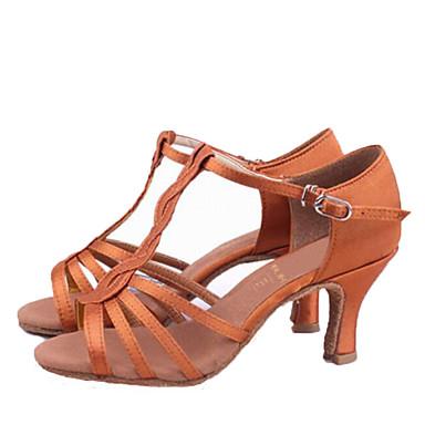 Femme Chaussures Latines Soie Sandale Talon Talon