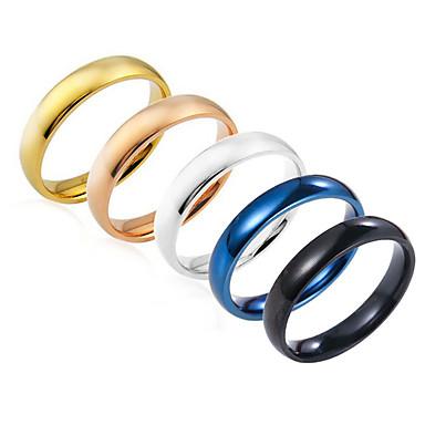 voordelige Herensieraden-Heren Ring Zilver Marine Blauw Lichtbruin Roestvast staal Rond Standaard Feest Verjaardag Sieraden