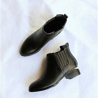 Naiset Bootsit Mokkanahka Kevät Musta Tasapohja