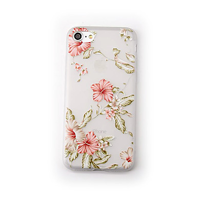 Hülle Für Apple iPhone 7 Plus iPhone 7 Mattiert Transparent Muster Rückseite Blume Weich TPU für iPhone 7 Plus iPhone 7 iPhone 6s Plus