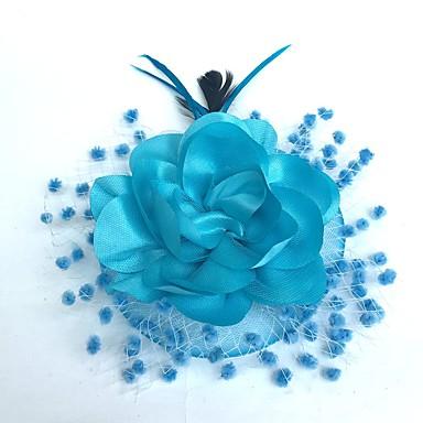 abordables Coiffes-Fascinators / Chapeaux / Coiffure avec Fleur 1pc Occasion spéciale Casque