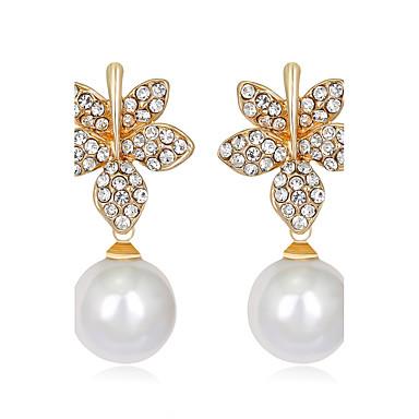 Dámské Peckové náušnice Jedinečný design Módní Euramerican Perly Slitina Flower Shape Šperky Pro Svatební Párty Zvláštní příležitosti