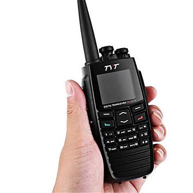 TYT DM-UVF10 Rádio de Comunicação Portátil GPS / VOX / LCD 1800mAh Walkie Talkie Dois canais de rádio
