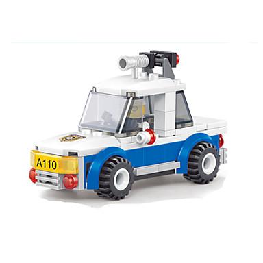 Rakennuspalikat Robotti Leluautot Poliisiauto Lelut Neliö Ompelukone Robotti Pieces Unisex Pojat Lahja