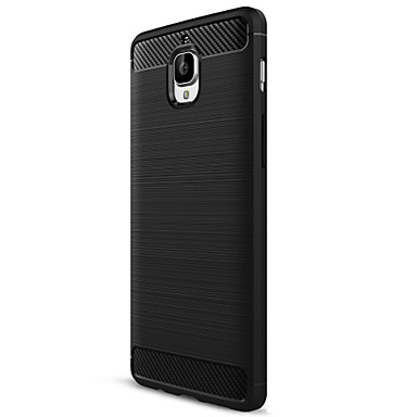 ASLING Case For OnePlus / One Plus 3 Frosted Back Cover Solid Colored Soft Carbon Fiber for One Plus 3T / One Plus 3 / OnePlus