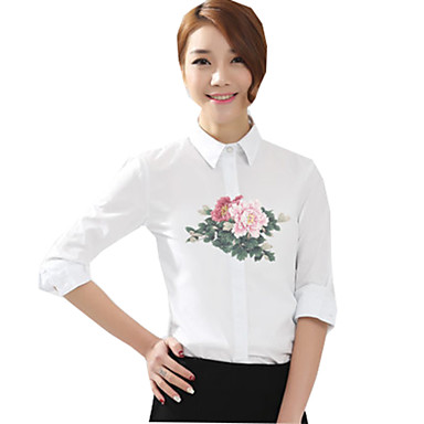 Blouse/Shirt Classic/Traditional Lolita Lolita Cosplay Lolita Dress Print Long Sleeves Blouse For Cotton Fabric