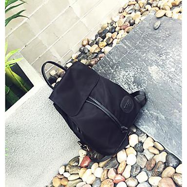 Women Bags All Seasons Nylon Backpack for Casual Black