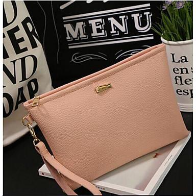 Women Shoulder Bag PU All Seasons Casual Outdoor Square Zipper Black Blushing Pink