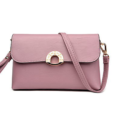 Women Bags All Seasons PU Shoulder Bag for Wedding Event/Party Casual Formal Outdoor Office & Career Black Blushing Pink Gray khaki