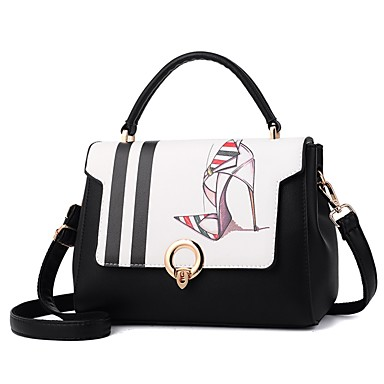 Women Bags PU Shoulder Bag for Casual All Seasons White Black Red
