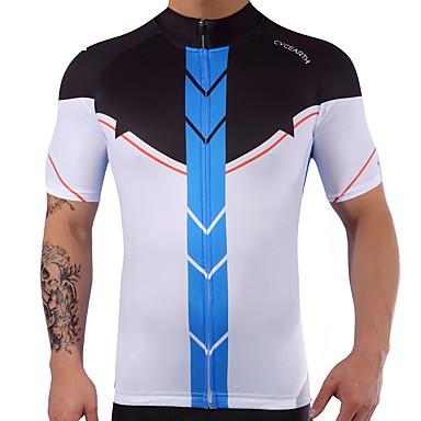 Manga Curta Camisa para Ciclismo Moto Secagem Rápida, Verão, Elastano Lycra