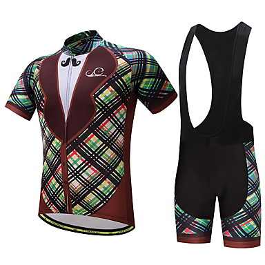 Men's Cycling Jersey with Bib Shorts Bike Clothing Suits, Quick Dry