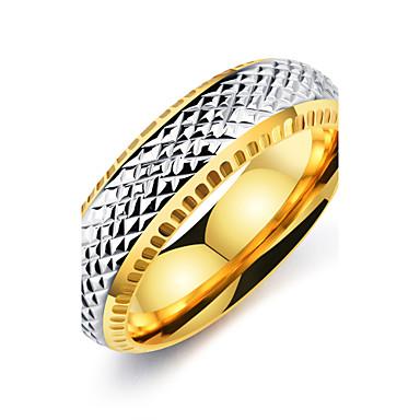 Homens Anel - Vintage, Elegante 7 / 8 / 9 Dourado Para Casamento / Aniversário / Festa / Noivado / Diário