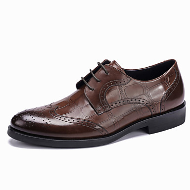 8bda89060ffbb Men's Formal Shoes Leather / Cowhide Spring / Fall Wedding Shoes ...