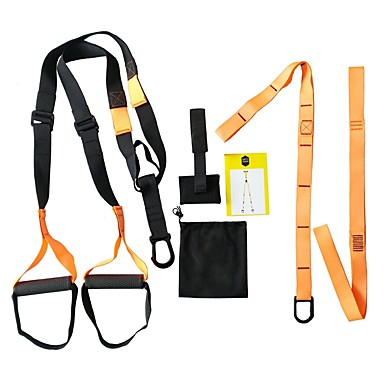 Trainingsbänder Nylon Leben Multifunktion Krafttrainung Yoga Fitnessstudio Unisex Orange