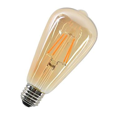 1db 4W 360lm E26 / E27 Izzószálas LED lámpák ST64 4 LED gyöngyök COB Dekoratív Meleg fehér 220-240V