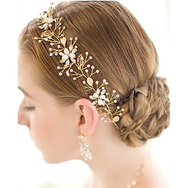 Pearl / Crystal / Alloy Tiaras / Headbands / Head Chain with 1 Wedding / Special Occasion Headpiece