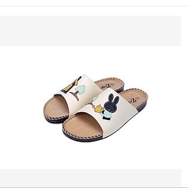 Naiset Kengät PU Kevät Comfort Sandaalit Käyttötarkoitus Kausaliteetti Valkoinen Pinkki