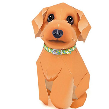 Quebra-Cabeças 3D Maquetes de Papel Artesanato de Papel Brinquedos de Montar Cachorros Animais Simulação Faça Você Mesmo Clássico Adorável