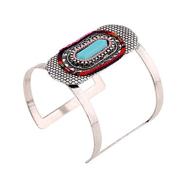 Women's Bangles Cuff Bracelet Vintage Bohemian Fashion Resin Rhinestone Iron Geometric Jewelry Special Occasion Event/Party Black Tie Gala