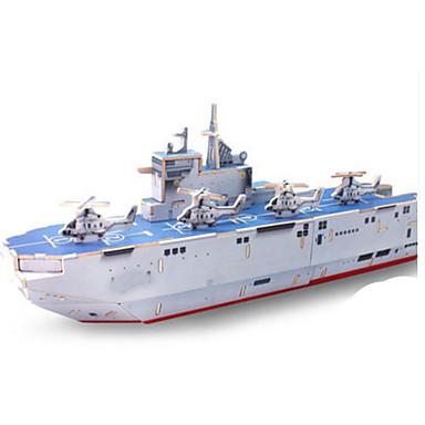 3D-puslespill Puslespill Tre Modell Modellsett Leketøy Krigsskip Skip 3D GDS Tre Uspesifisert Deler