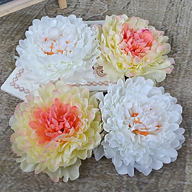 1 Gren Plastikk Peoner Bordblomst Kunstige blomster