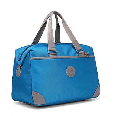Unisex Travel Bag Oxford Cloth Polyester All Seasons Casual Outdoor Round Zipper Blue Yellow Fuchsia