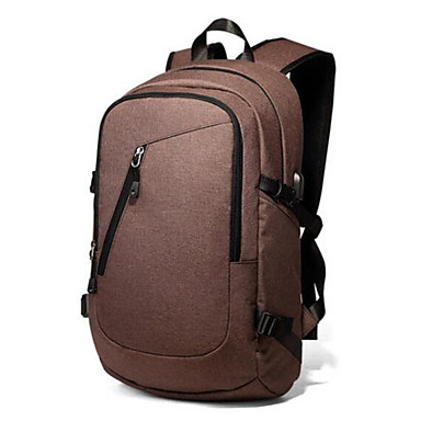 Men's Bags PU Backpack for Casual All Seasons Coffee