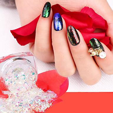 voordelige Nieuwe aankomsten voor nagel-Schitteren Pailletten Voor 12 kleuren Nagel kunst Manicure pedicure Klassiek / Glimmend / aantrekkingskracht Dagelijks