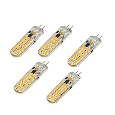 4.5W LED-lamper med G-sokkel T 30 LED SMD 2835 Varm hvit Kjølig hvit 350-450lm 3000/6500
