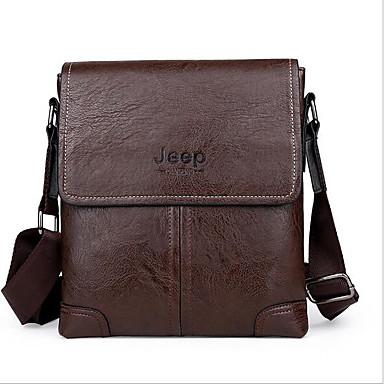 Men Bags All Seasons PU Shoulder Bag for Casual Outdoor Chocolate Black Brown