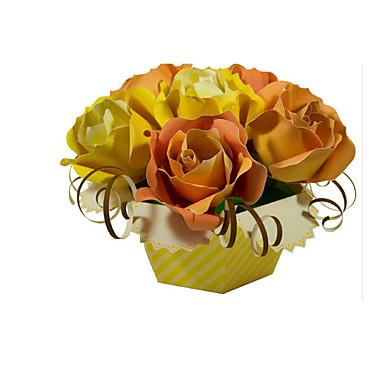 3D-puslespill Puslespill Papirkunst Modellsett Roser Blomst simulering GDS Klassisk Barne Unisex Gave