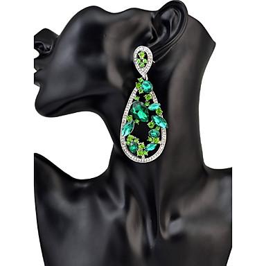 Mulheres Brincos Compridos Cristal Personalizada Luxo Geométrico Original Pingente Clássico Boêmio Básico Sensual Amizade Oversized