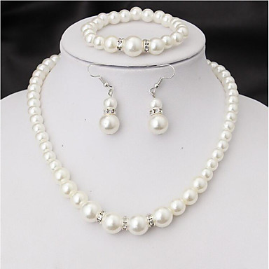 Women's Jewelry Set - Imitation Pearl Include Bridal Jewelry Sets White For Wedding Party Special Occasion / Anniversary / Birthday / Graduation / Engagement