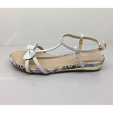 Women's Flat Comfort Summer Nubuck leather Synthetic Casual White Black Flat