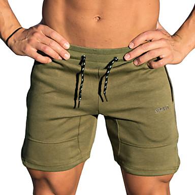 Shorts til jogging Pusteevne Bekvem Fritid/hverdag Shorts Bunner Trening & Fitness Løp Innendørs Bomull Svart Militærgrønn M L XL XXL