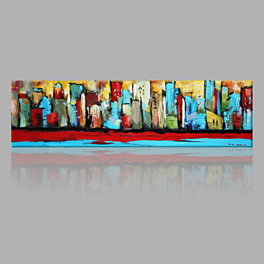 Oil Painting Hand Painted - Abstract Chic & Modern Canvas